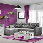 现代简约风格明亮两居室客厅窗帘效果图