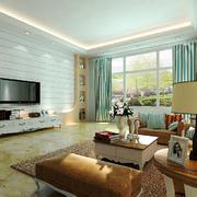 现代风格三居室客厅电视背景墙装修效果图赏析