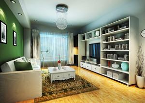 80平米北欧风格客厅电视组合柜设计效果图赏析