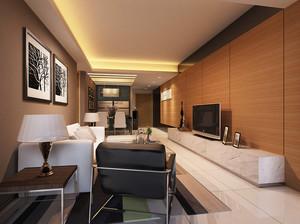 90平米后现代风格客厅电视背景墙装修效果图赏析