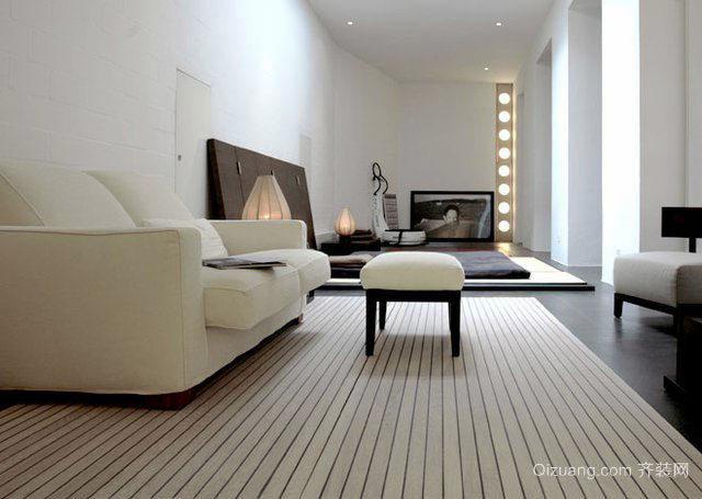 现代简约风格精致客厅地毯设计装修效果图赏析