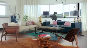北欧风格小户型客厅沙发装修效果图赏析