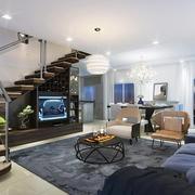 精致典雅现代风格复式楼楼梯装修效果图赏析