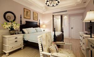 美式田园风格精致三室两厅一卫装修效果图