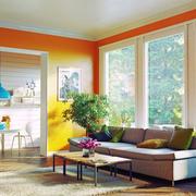 现代风格两居室温暖客厅装修效果图