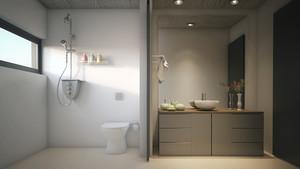 9平米后现代风格小卫生间装修效果图鉴赏