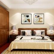 27平米新中式风格卧室衣柜设计效果图赏析