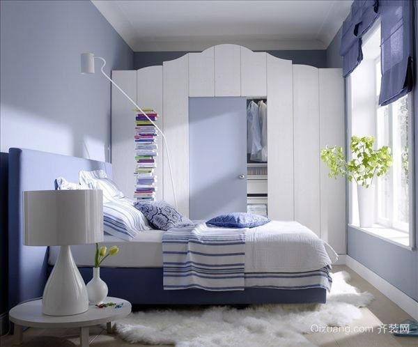 都市清新风格卧室整体衣柜装修效果图