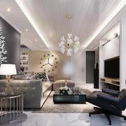 现代简约风格客厅沙发背景墙装修效果图赏析