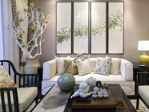 136平米新中式风格两室两厅室内装修效果图赏析