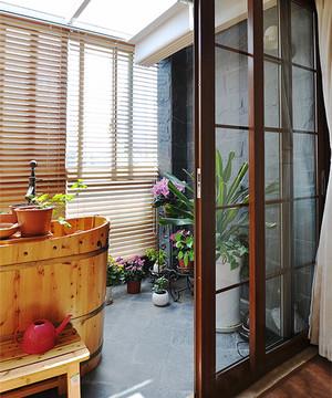 中式风格大户型阳台花园设计装修效果图鉴赏