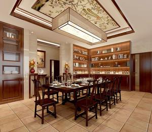 中式风格二居室餐厅吊顶装修效果图赏析