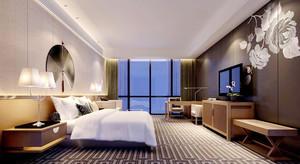 70平米现代中式风格宾馆房间装修效果图