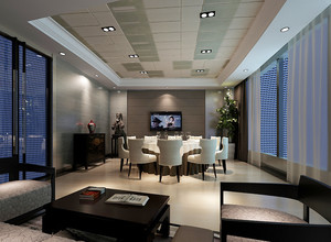 76平米现代简约风格酒店包厢装修效果图鉴赏