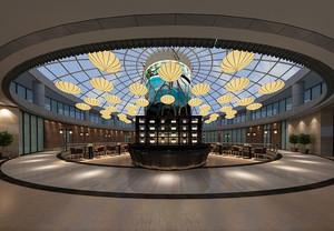 332平米现代风格酒店大堂装修效果图鉴赏