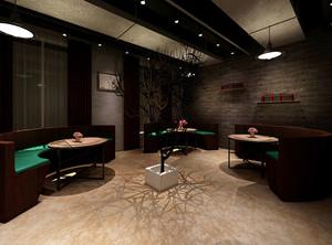 136平米后现代风格咖啡厅装修效果图