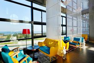 145平米现代简约风格咖啡厅装修效果图赏析