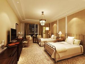 30平米简欧风格宾馆标准间装修效果图