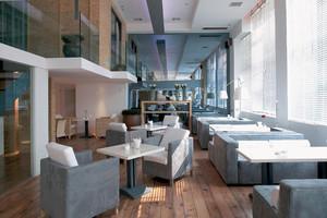 100平米现代简约风格咖啡厅沙发装修效果图赏析