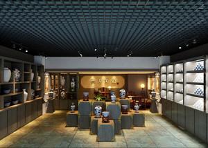 中式风格商铺陶瓷店装修效果图赏析