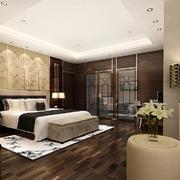 31平米新中式风格卧室背景墙装修效果图鉴赏