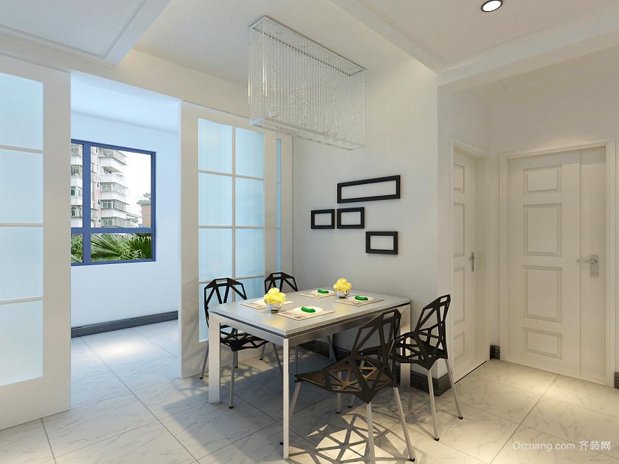 70平米现代简约风格餐厅吊灯装修效果图