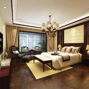 古典欧式风格别墅室内主卧室装修效果图