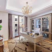 现代简约美式风格大户型室内书房装修效果图