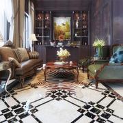 168平米美式风格大户型客厅酒柜设计效果图赏析