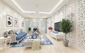 100平米简欧风格客厅装修效果图赏析