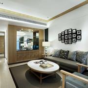 现代风格二居室客厅照片墙设计效果图鉴赏