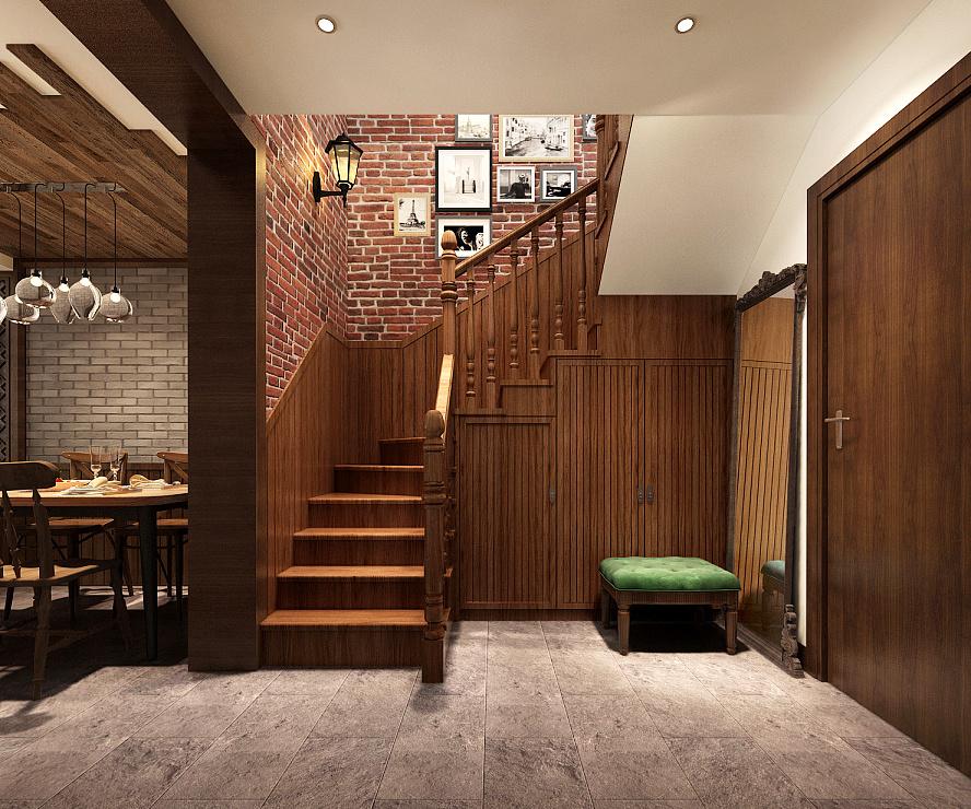 精致典雅美式风格复式楼梯装修效果图鉴赏