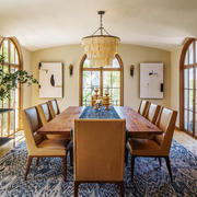 美式乡村风格别墅室内餐厅装修效果图赏析