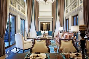 欧式豪华风格大户型室内装修效果图赏析