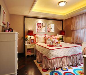 欧式田园风格温馨舒适儿童房装修效果图