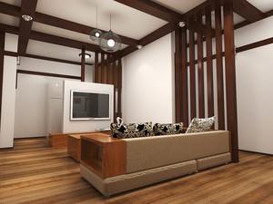 66平米日式风格小户型室内装修效果图鉴赏