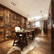 美式风格复式楼书房装修设计效果图鉴赏