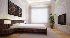 北欧风格一居室时尚卧室背景墙装修效果图