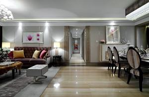 90平米新古典主义风格室内装修效果图赏析