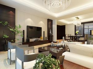 现代中式风格两室两厅室内装修效果图鉴赏