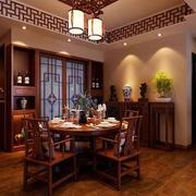 古朴雅韵中式风格餐厅装修效果图赏析
