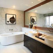 8平米中式风格精致卫生间洗脸盆装修效果图赏析