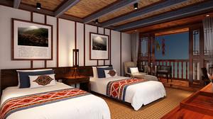 62平米东南亚风格宾馆装修效果图鉴赏