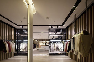 256平米现代风格服装店装修效果图赏析