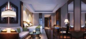 56平米中式风格宾馆装修效果图鉴赏