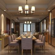 新中式风格小户型餐厅背景墙装修效果图赏析