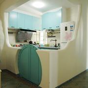 创意地中海风格厨房设计装修效果图