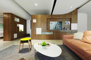 90平米现代风格两室两厅室内装修效果图