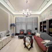 精致典雅简欧风格二居室客厅装修效果图鉴赏