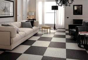 现代简约风格两居室客厅瓷砖装修效果图